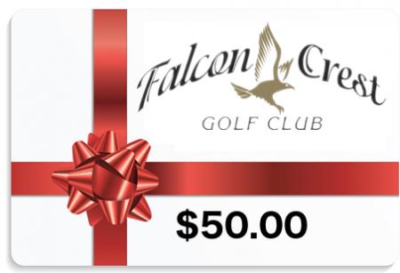 50 Gift Card Falcon Crest Golf Course